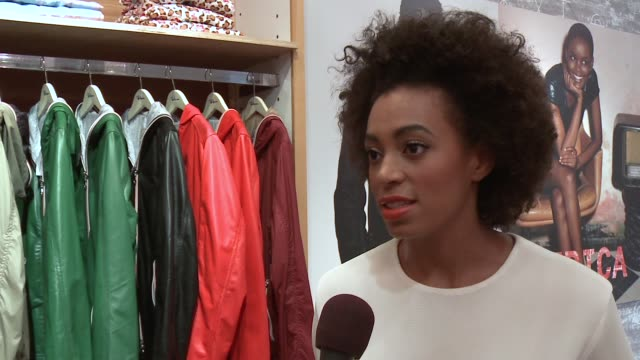 INTERVIEW Solange Knowles on why she is at the event what she's learned so far celebrating Africa at the DIESEL EDUN Studio Africa Event At Ron...