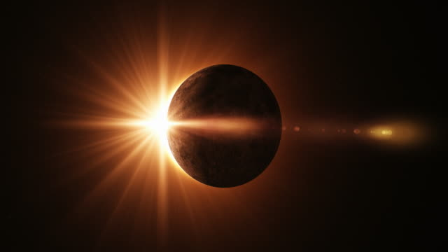 4k solar eclipse animation - solar system stock videos & royalty-free footage