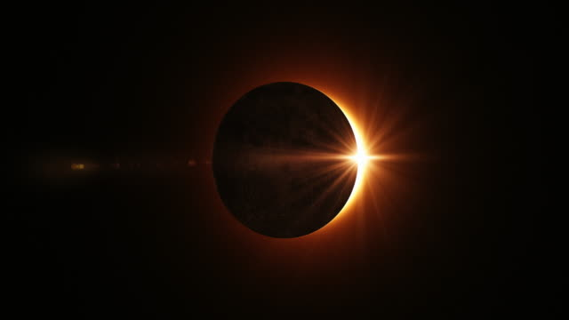 4k solar eclipse animation - the end stock videos & royalty-free footage