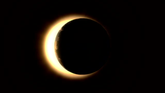 solar eclipse - horizontal - solar flare stock videos and b-roll footage