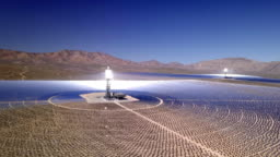 Solar Electric Generation Plant in Nevada Desert