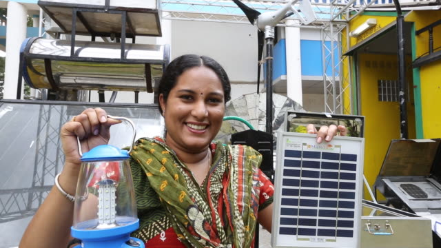 a solar lantern powered by a solar panel, part of  - lantern stock videos & royalty-free footage
