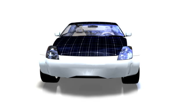 Solar panel electric car 360