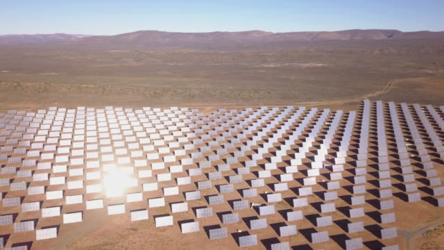 solar panel farm aerial view - africa stock videos & royalty-free footage