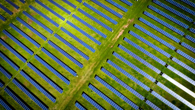 Solar Panel Farm creating clean renewable energy