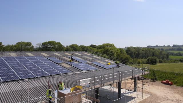 solar panel installation - solar panel stock videos & royalty-free footage