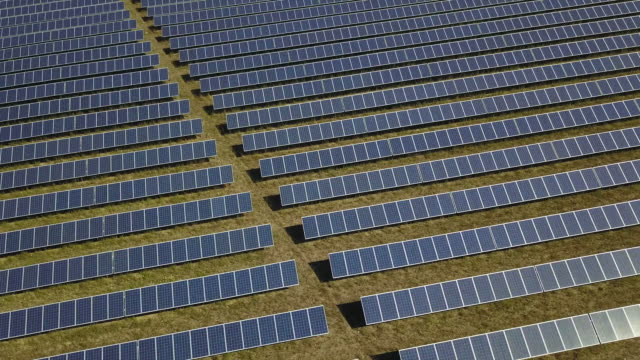 Solar panel park of the energy company Entega in Thuengen at northern Bavaria in Germany on Thursday 30 July 2018