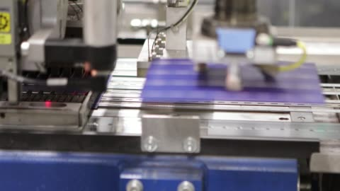 solar panel production line - manufacturing stock videos & royalty-free footage