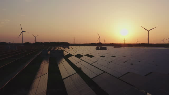 solar panels and wind turbines - fuel and power generation stock videos & royalty-free footage