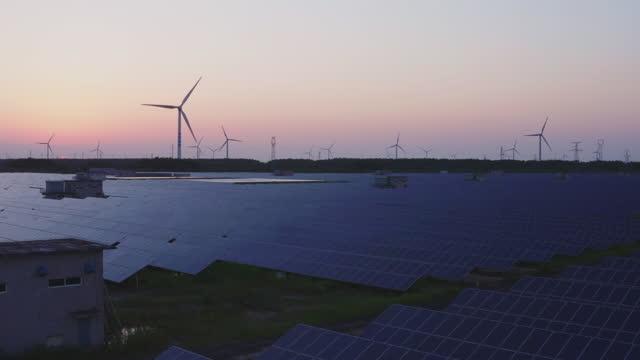 solar panels and wind turbines - turbine stock videos & royalty-free footage