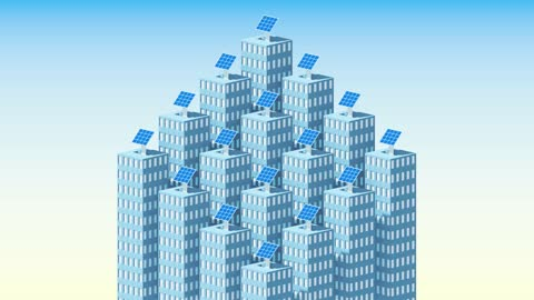solar panels coming out of rooftops - 投影図点の映像素材/bロール