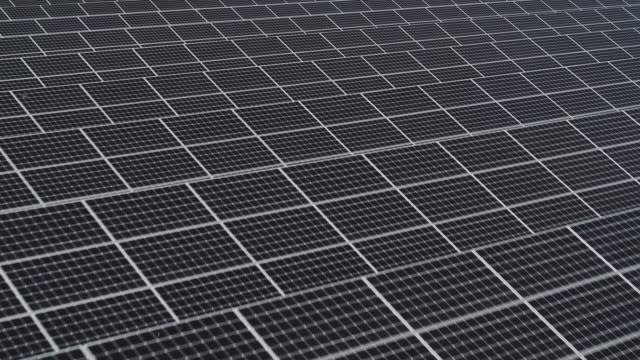 solar panels in solar farm / seosan-si, chungcheongnam-do, south korea - pannello solare video stock e b–roll