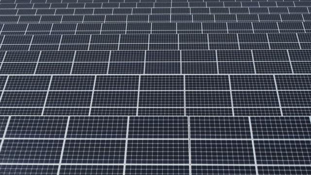 solar panels in solar farm / seosan-si, chungcheongnam-do, south korea - electricity stock videos & royalty-free footage
