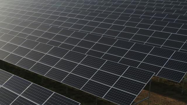 solar panels in solar farm / seosan-si, chungcheongnam-do, south korea - power supply stock videos & royalty-free footage