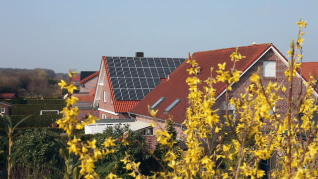solar panels on a roof - focus on background stock videos & royalty-free footage