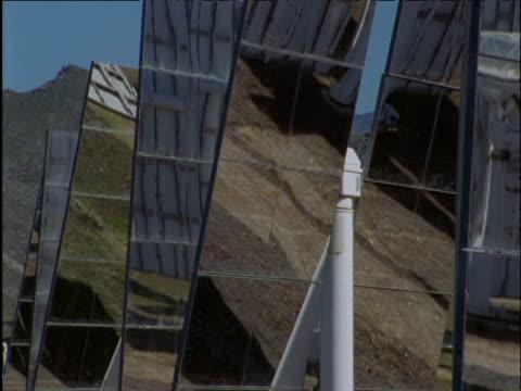 Solar panels rotate to track sun Spain