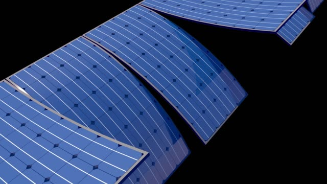 solar panels swinging 3d loop animation - artificial intelligence stock videos & royalty-free footage