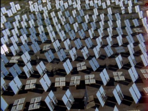 Solar panels tilt to track sun Spain