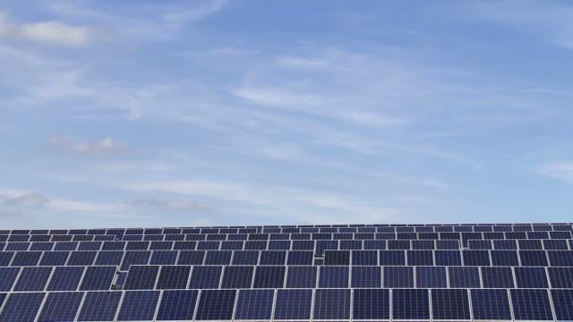 PAN Solar Park Against Blue Sky