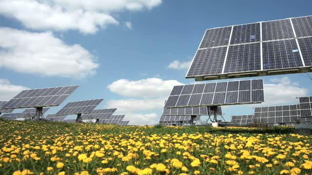 T/L Solar Park In Spring