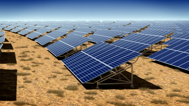 solar plant. loop. - solar panel stock videos & royalty-free footage
