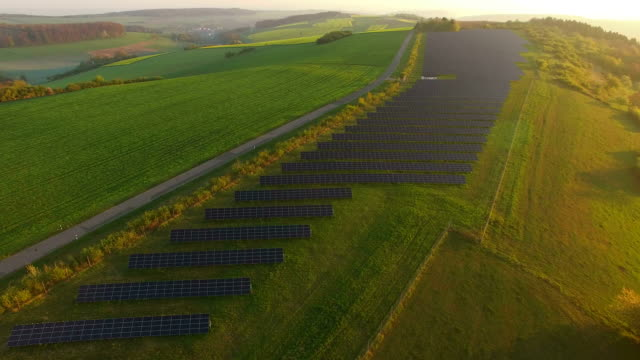 Solar plant near Fisch, Saargau, District Trier-Saarburg, Rhineland-Palatinate, Germany