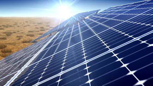 solar plant - solar panel stock videos & royalty-free footage