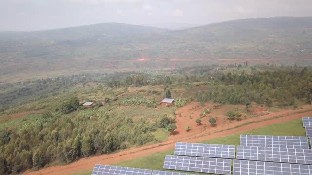 solar power station in the rural rwandan countryside outside kigali - solar energy stock videos & royalty-free footage