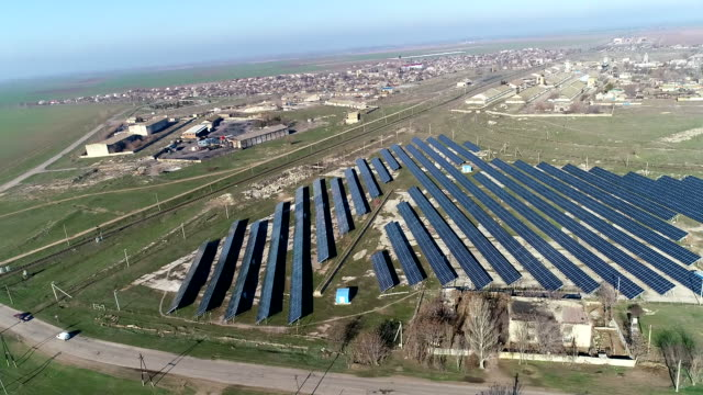 solar power station panels - electricity stock videos & royalty-free footage