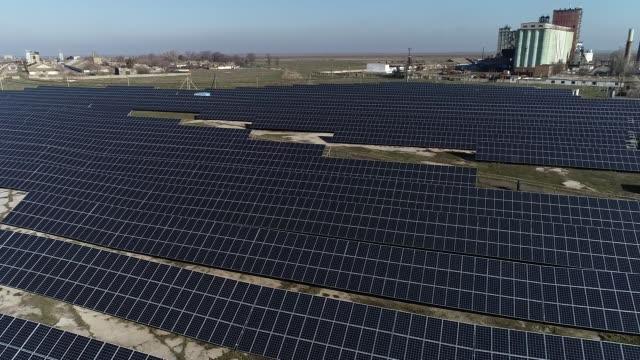 solar power station - ukraine stock videos & royalty-free footage