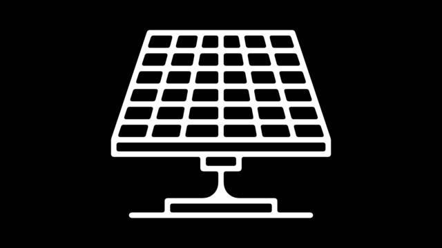 solar power system line icon animation with alpha - outline stock videos & royalty-free footage
