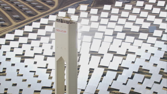 AERIAL CU ZO WS PH10 solar power tower / Seville, Andalusia, Spain