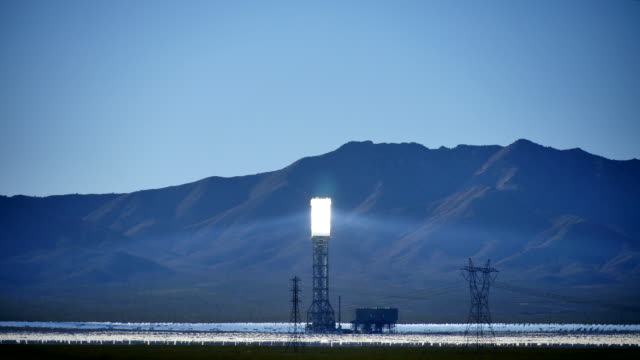 Solar Power Tower Wide 4K