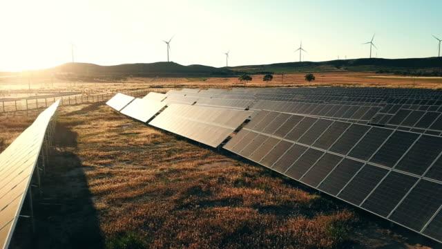solar powered station - turbine stock videos & royalty-free footage