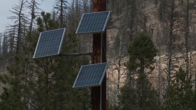 solar powered warning gages installed in santa clara pueblo to warn locals of flooding - puebloan peoples stock videos & royalty-free footage