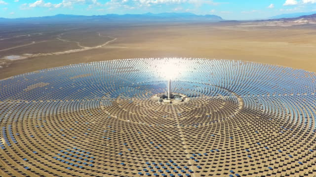 solar thermal power station - desert stock videos & royalty-free footage