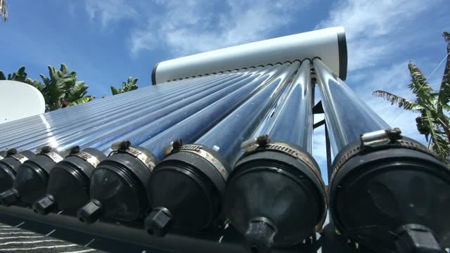 solar water heater - boiler stock videos & royalty-free footage