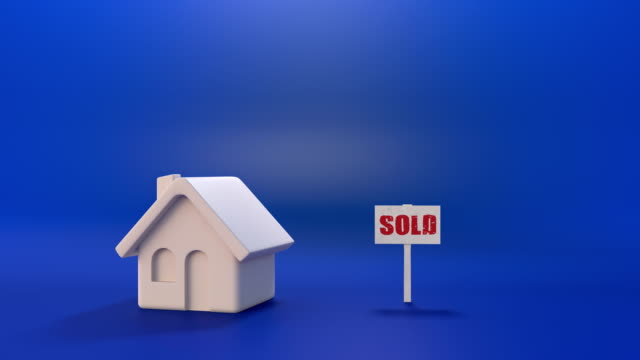 sold house, mortgage - commercial sign stock videos & royalty-free footage