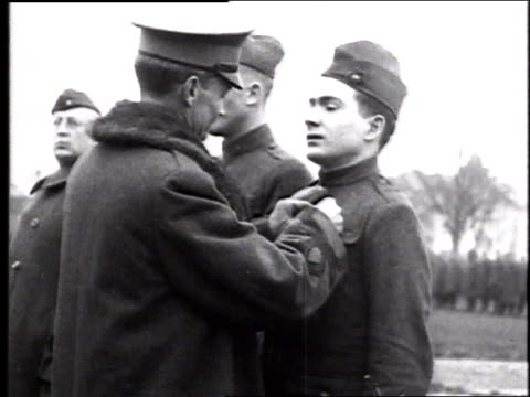 W soldier being awarded a medal / France