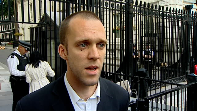 soldier charged with desertion hands in letter to downing street lance corporal glenton interview sot refused to go back to afghanistan because... - 不公平点の映像素材/bロール