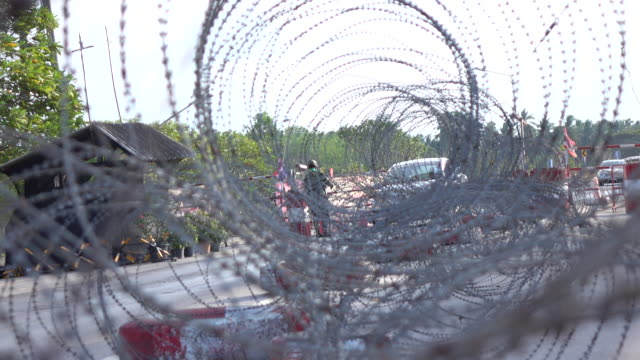 soldier fence in the checkpoint background - gaza strip stock videos & royalty-free footage