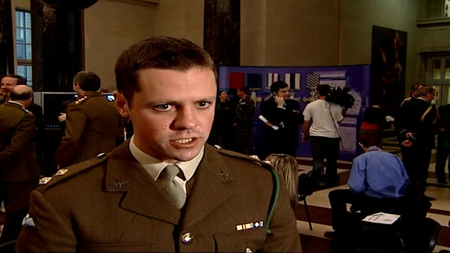 soldier killed in afghanistan awarded posthumous victoria cross england int lieutenant hugo farmer interview sot he was aware of the extreme danger... - the victoria cross stock-videos und b-roll-filmmaterial