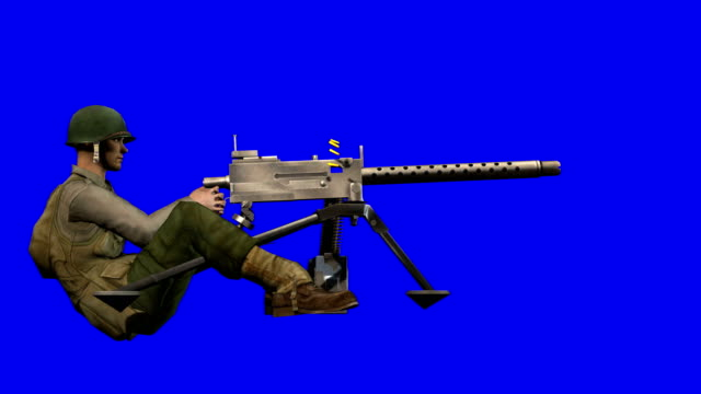 usa soldier shooting blue screen (loopable) - graphic war footage stock videos & royalty-free footage