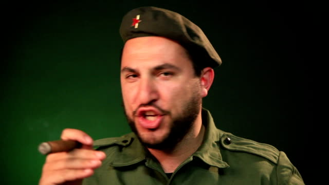 soldier with a cigar - dictator stock videos & royalty-free footage