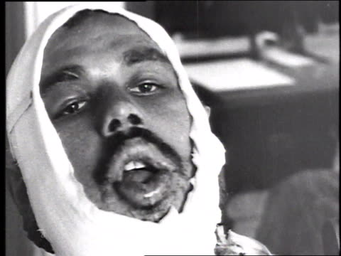 w soldier with a heavily bandaged head and mouth injury / france - 1918 stock videos and b-roll footage