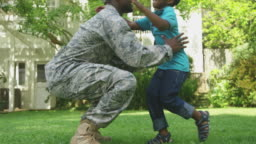 Soldier with his son
