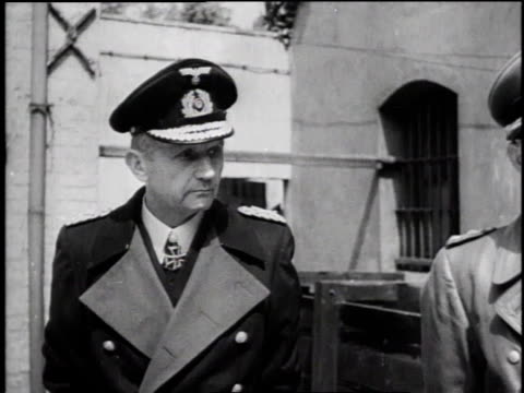 ws soldiers arresting high value german military officials / ms arrested german war criminal attempts to shake soldiers hand and soldier refuses / ms... - hermann goering stock videos & royalty-free footage