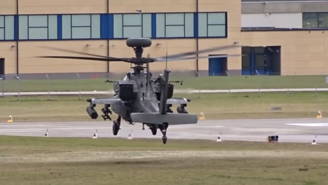 us soldiers assigned to the 12th combat aviation brigade and 1st air combat brigade conducted airfield operations jan 29 2018 the aircrews practice... - black hawk helicopter stock videos and b-roll footage