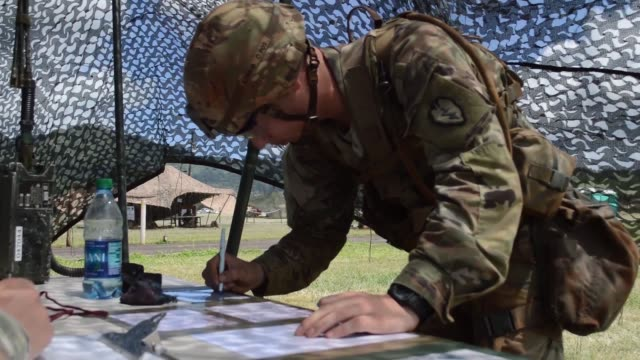 soldiers assigned to the 25th infantry division participate in expert infantryman badge testing at schofield barracks hawaii on june 12 2018... - barracks stock videos & royalty-free footage
