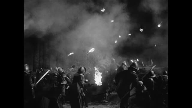 soldiers attack a fortress in 17th century france - renaissance stock-videos und b-roll-filmmaterial